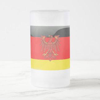 Duits Wapenschild Matglas Bierpul