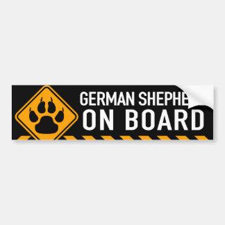 Duitse herder aan boord bumpersticker