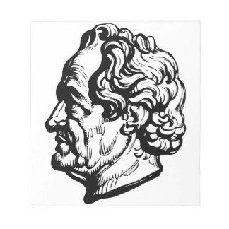 Duitse schrijver Goethe Notitieblok
