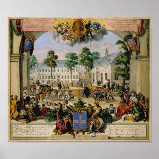 Duitse stad Lingen (1700) Poster