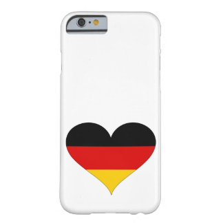 Duitse Vlag - Hart Barely There iPhone 6 Hoesje