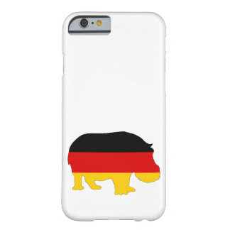 Duitse Vlag - Hippo Barely There iPhone 6 Hoesje
