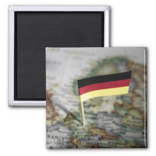 Duitse vlag in kaart koelkast magneten