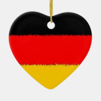 Duitse Vlag Keramisch Hart Ornament