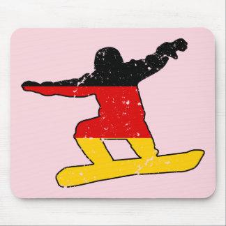 Duitse vlag SNOWBOARDER (blk) Muismat
