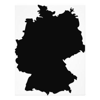 Duitsland contourpictogram flyer 21,6 x 27,9 cm
