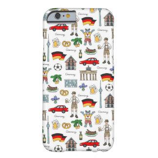 Duitsland | het Patroon van Symbolen Barely There iPhone 6 Hoesje