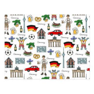 Duitsland | het Patroon van Symbolen Briefkaart