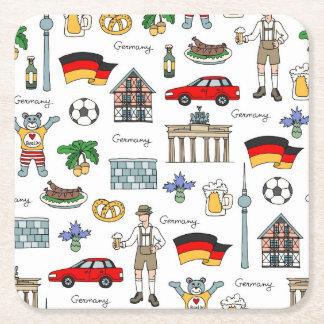Duitsland | het Patroon van Symbolen Vierkante Onderzetter