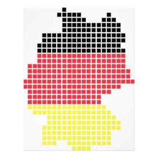 Duitsland pixelvlag flyer 21,6 x 27,9 cm