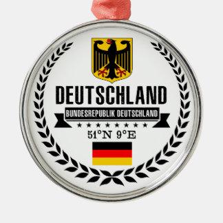 Duitsland Zilverkleurig Rond Ornament
