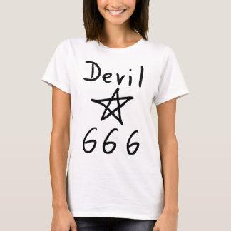 duivel 666 pictogram t shirt