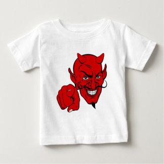 Duivel die het Karakter van de Cartoon richten Baby T Shirts