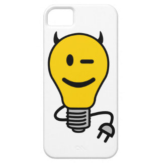 Duivel Lightbulb met stopstaart Barely There iPhone 5 Hoesje