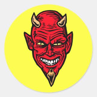 duivel ronde sticker