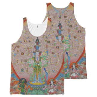 Duizend-bewapende Avalokiteshvara helemaal over de All-Over-Print Tank Top
