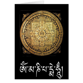 Duizend-bewapende Avalokiteshvara Mandala begroet. Briefkaarten 0