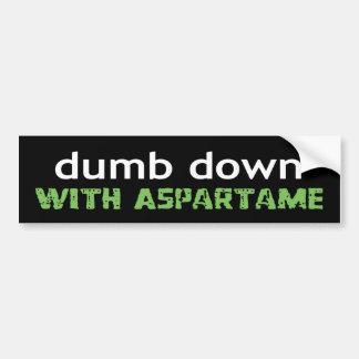dumbdown bumpersticker