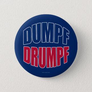 DUMPF DRUMPF (Blauw & Rood op Blauw) Ronde Button 5,7 Cm
