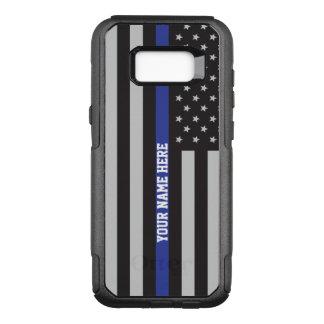 Dun Blue Line - Amerikaanse Vlag Gepersonaliseerde OtterBox Commuter Samsung Galaxy S8+ Hoesje