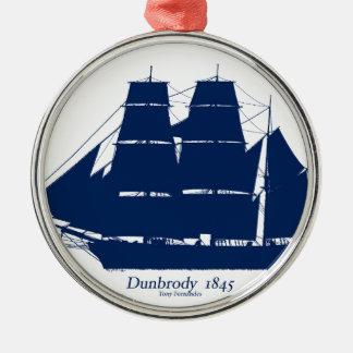 Dunbrody 1845 door tony fernandes zilverkleurig rond ornament