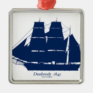 Dunbrody 1845 door tony fernandes zilverkleurig vierkant ornament