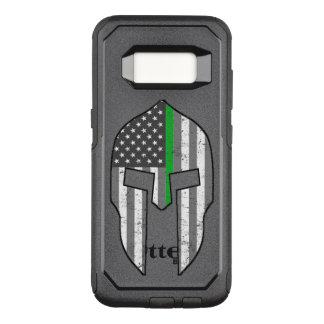 Dunne Groene Amerikaanse Spartaans van de Lijn OtterBox Commuter Samsung Galaxy S8 Hoesje