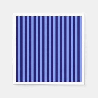 Dunne Lichtblauw en Donkerblauwe Strepen - Papieren Servetten