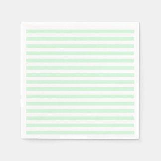 Dunne Strepen - Groen Wit en Pastelkleur Papieren Servet