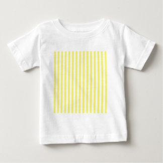 Dunne Strepen - Wit en Citroen Baby T Shirts