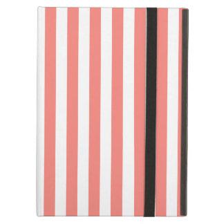 Dunne Strepen - Wit en het Roze van het Koraal iPad Air Hoesje