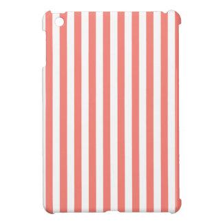 Dunne Strepen - Wit en het Roze van het Koraal iPad Mini Case
