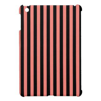 Dunne Strepen - Zwarte en het Roze van het Koraal Hoesje Voor iPad Mini