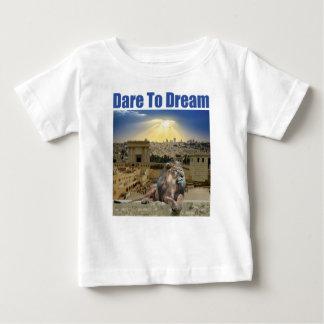 Durf te dromen baby t shirts