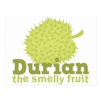 Durian het stinkende fruit briefkaart