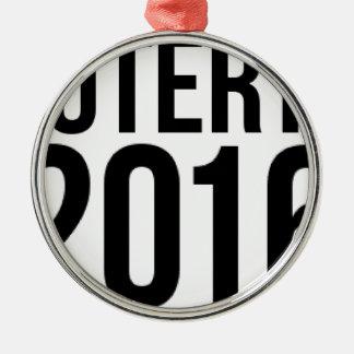 Duterte 2016 zilverkleurig rond ornament