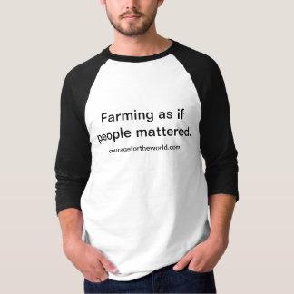 Duurzaam Bericht 3/4 van de Landbouw de T-shirt
