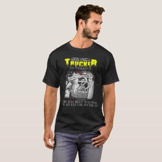 Duw nooit een Vrachtwagenchauffeur aan Who van het T Shirt