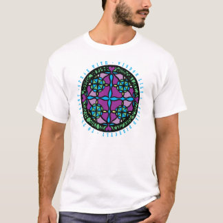 Dwaas Paars en Groen Hart T Shirt