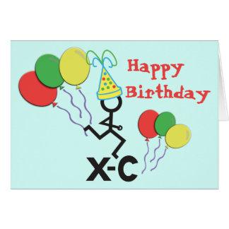 Dwars Land XC de Gelukkige Verjaardag van de Agent Wenskaart