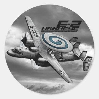E-2 Hawkeye Ronde Sticker