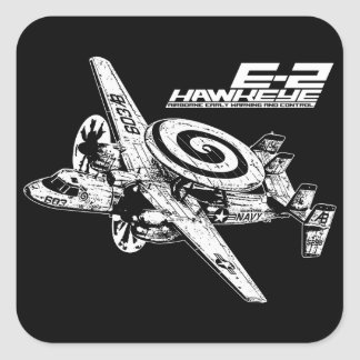 E-2 Hawkeye Vierkant Stickers