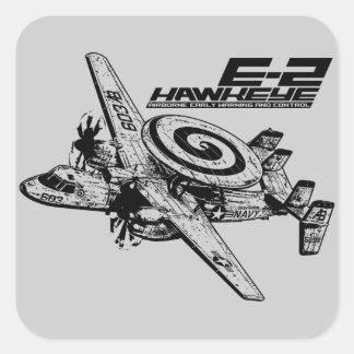 E-2 Hawkeye Vierkant Sticker