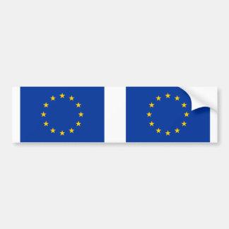E. - de vlag van de Europese Unie Bumpersticker