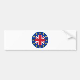 E. - de Vlag van de Europese Unie - Union Jack Bumpersticker