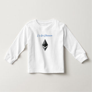 E is voor Ethereum Kinder Shirts