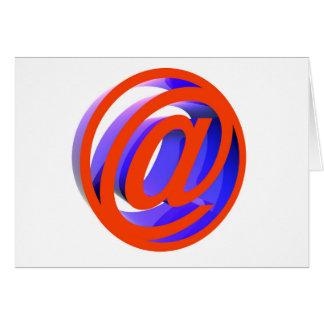 E-mail pictogram briefkaarten 0