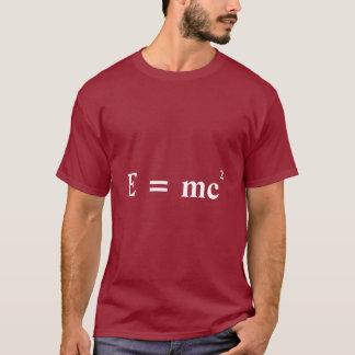 E = mc2 de omzetting van de de massaenergie van t shirt
