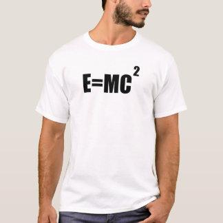 E=MC2 de T-shirt van het Mannen van de Theorie van