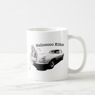E-type Punt met heet kattenmeisje Koffiemok